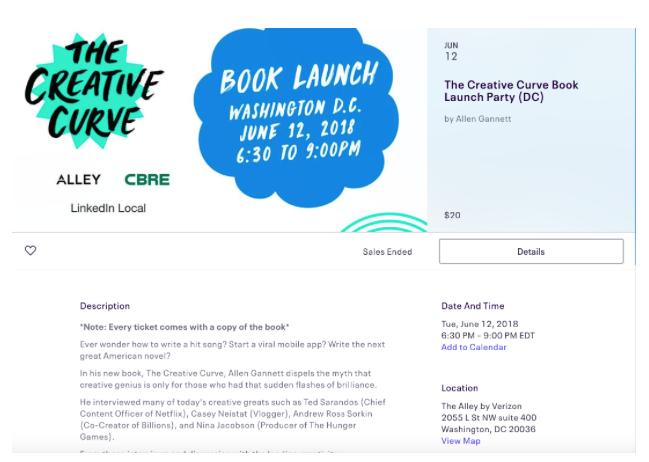 Launch Party Eventbrite