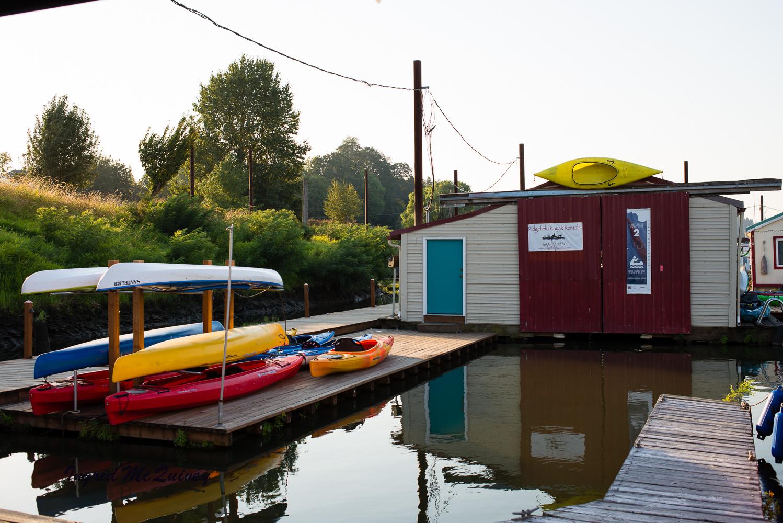 You can rent kayaks at  Ridgefield Kayak Rentals.