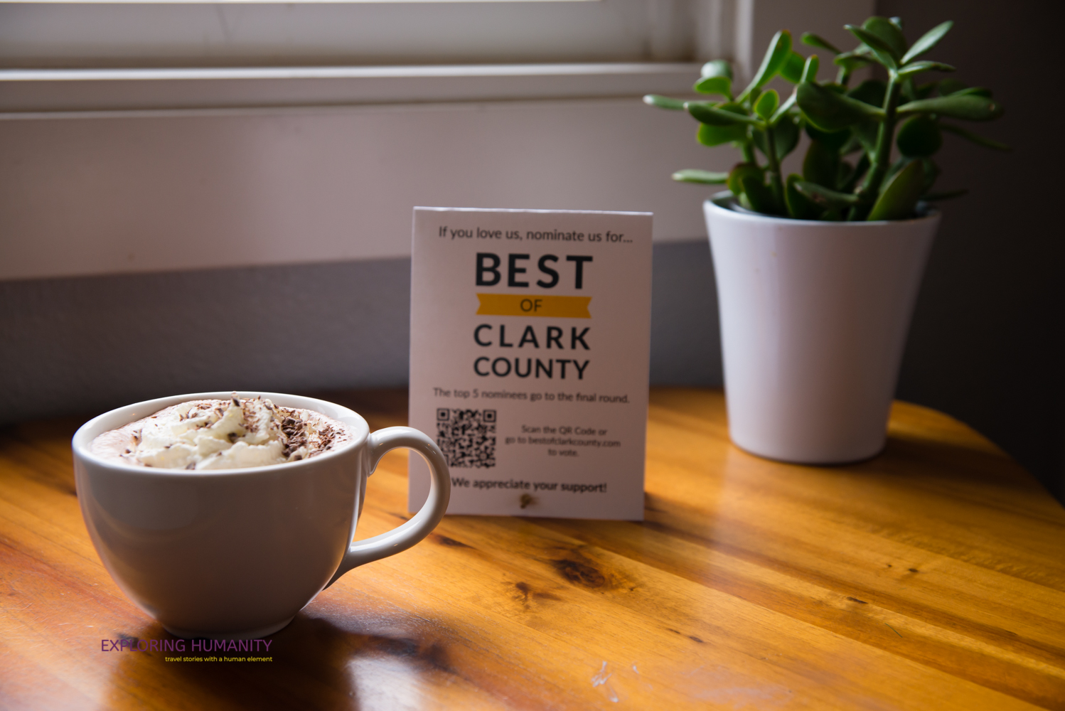 Hidden River Roasters is in the running for being nominated for Best of Clark County.
