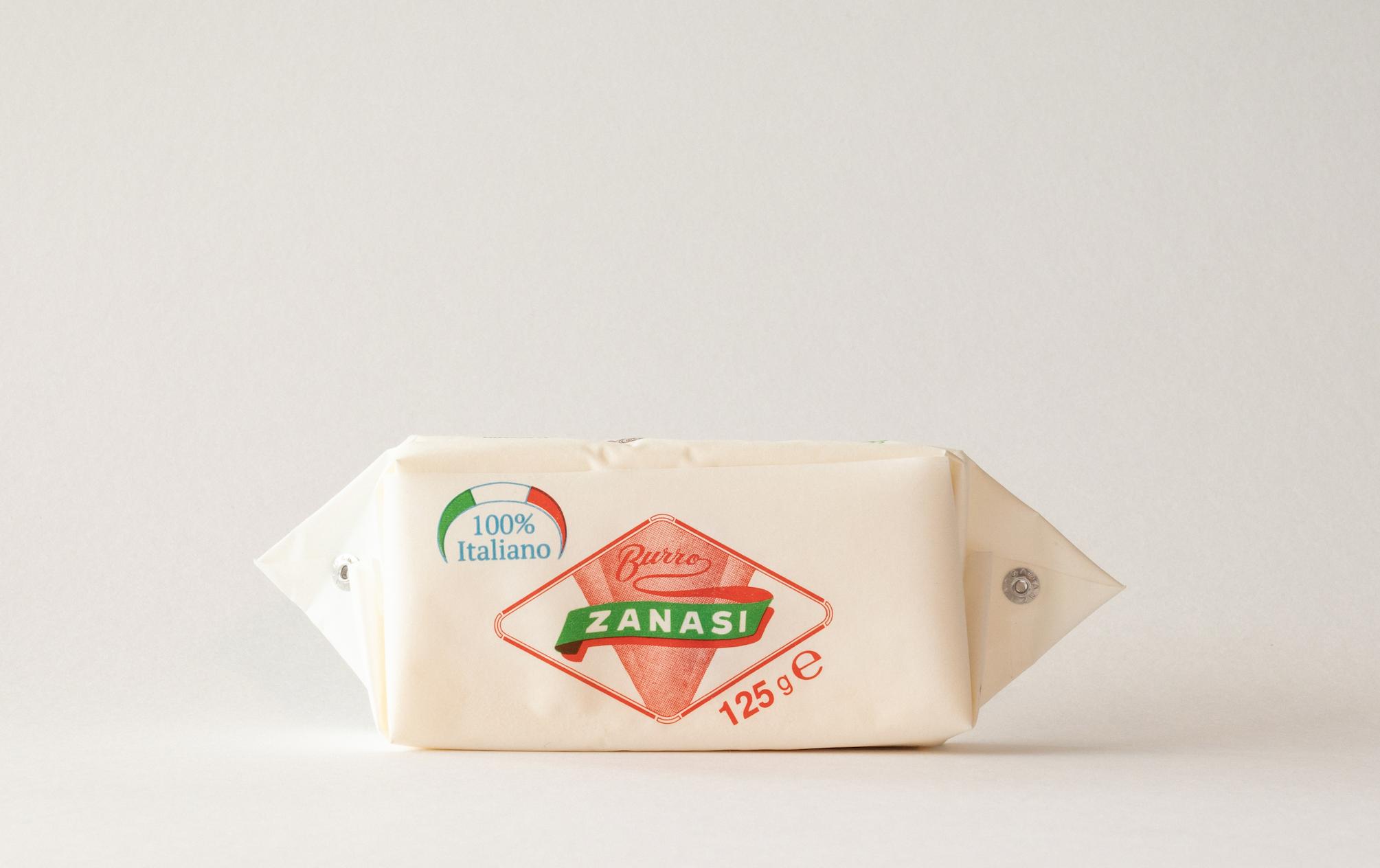Burro Zanasi 125gr - Uno degli storici formati del marchio, prodotto da panne 100% italiane.