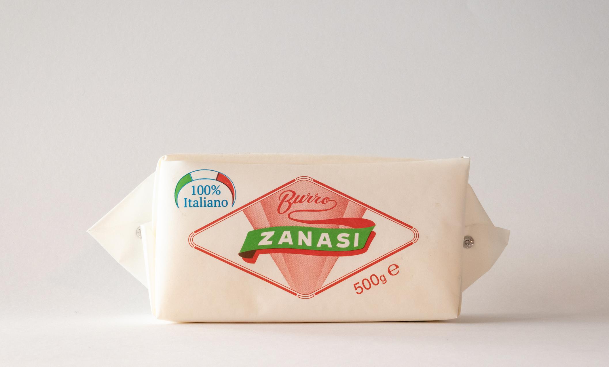 Burro Zanasi 500gr - Uno degli storici formati del marchio, prodotto da panne 100% italiane