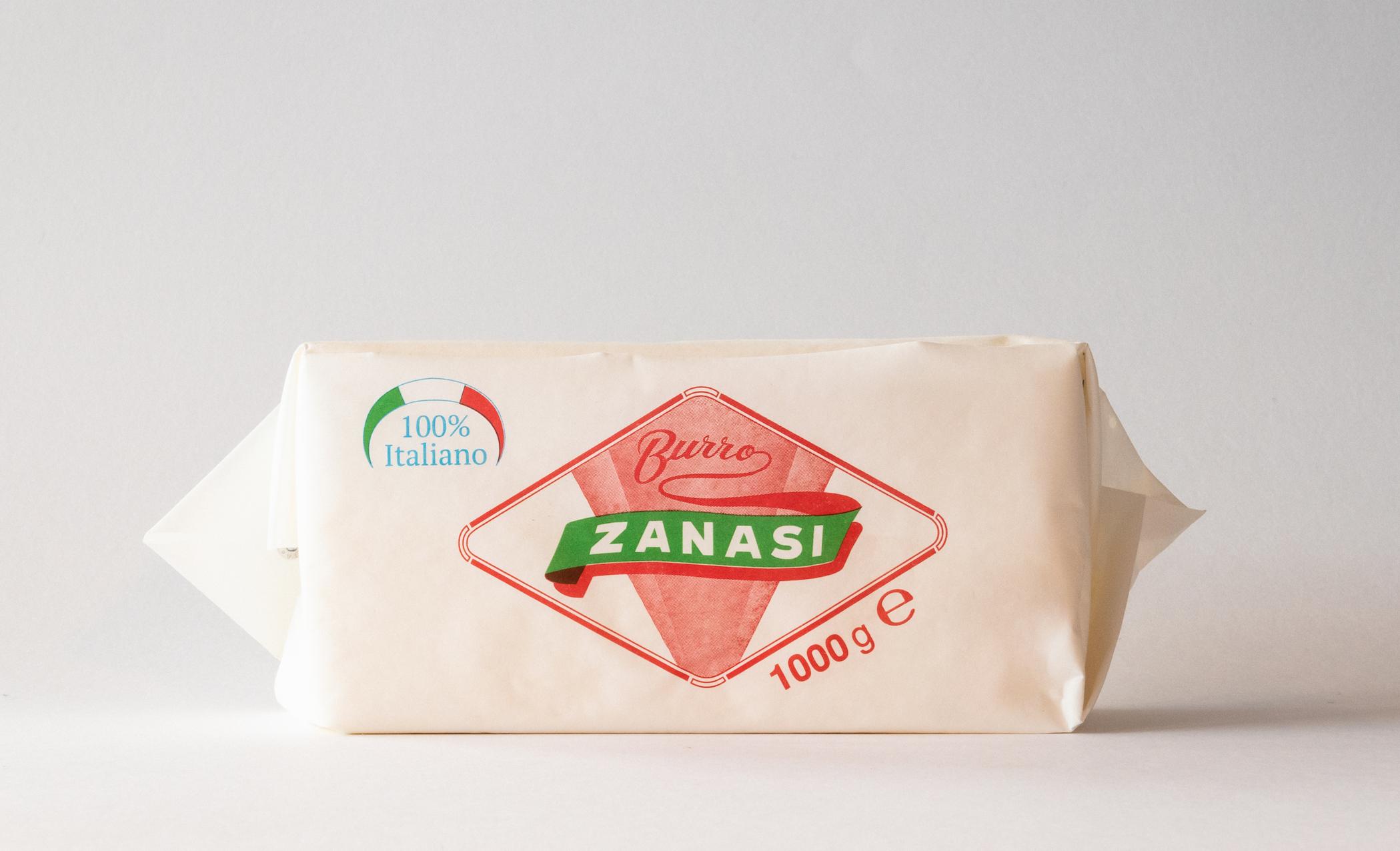Burro Zanasi 1000gr - Uno degli storici formati del marchio, prodotto da panne 100% italiane