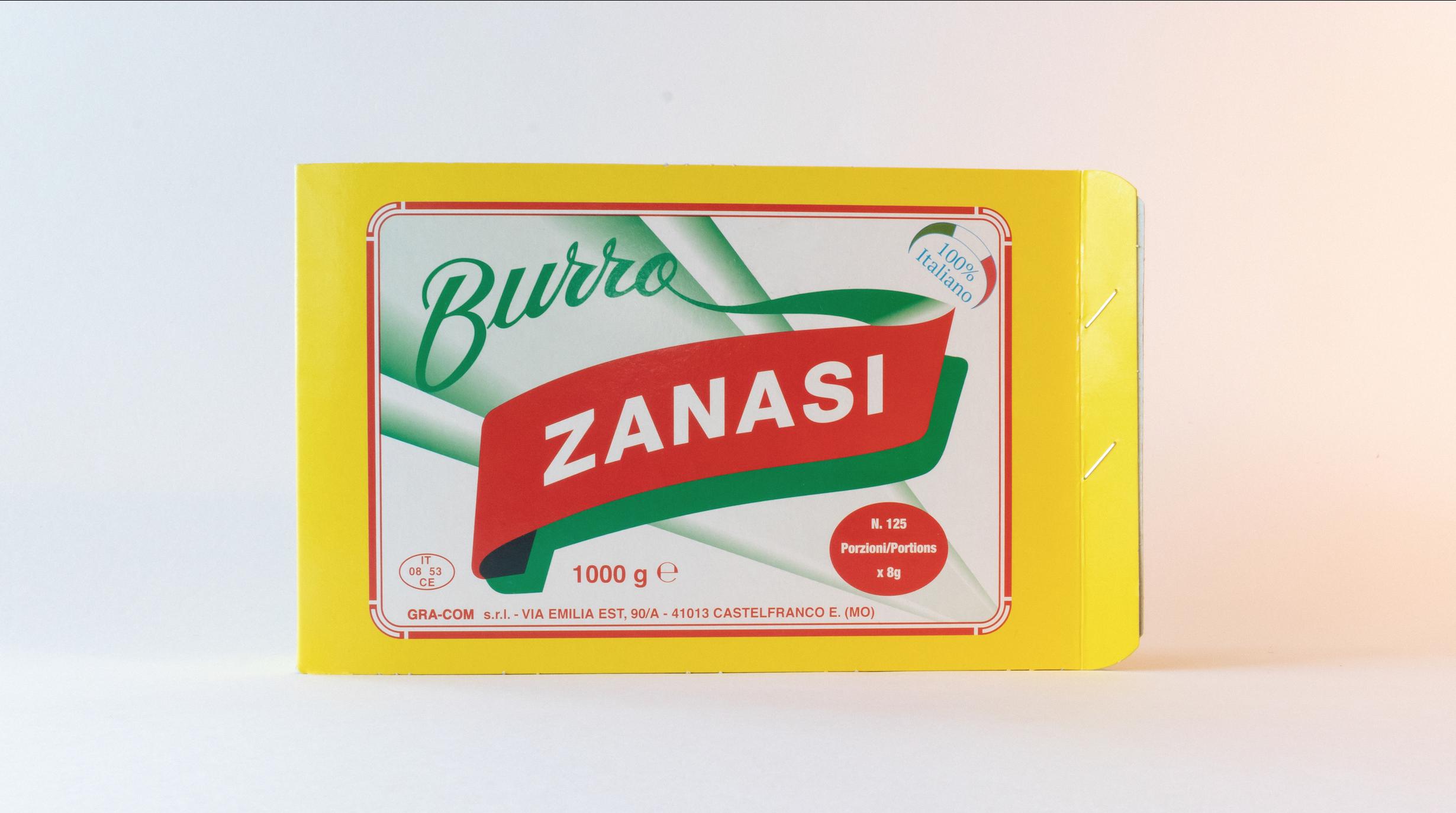 Burro Porzioni Zanasi - formato Hotel 8 gr per porzione. Prodotto da panne 100% italiane.