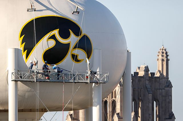 The view from Kinnick Stadium and @uichildrens just got a little better today. (Brian Ray/hawkeyesports.com) #fightforiowa #hawkeyes