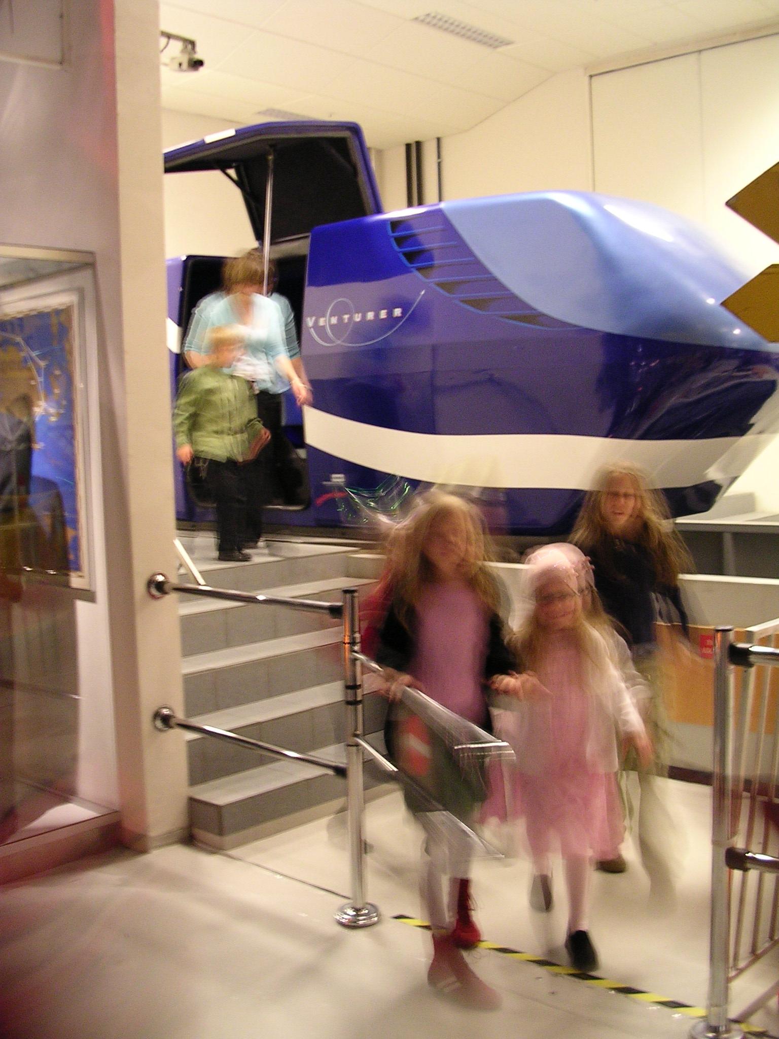 Flysimulatoren var en stor attraksjon i årevis før Newton Flight Academy ble bygget