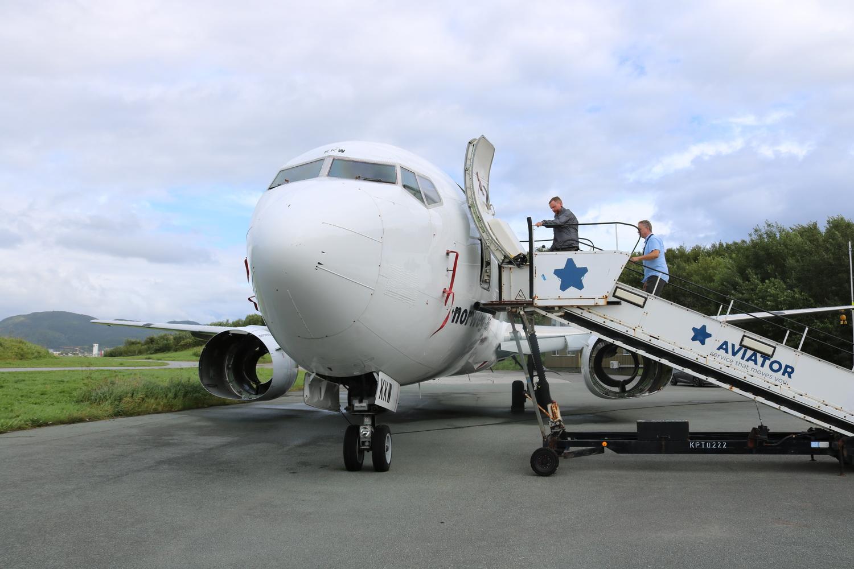 Norwegian-flyet Boeing 737 skal flyttes fra flystasjonen til museet om kort tid.