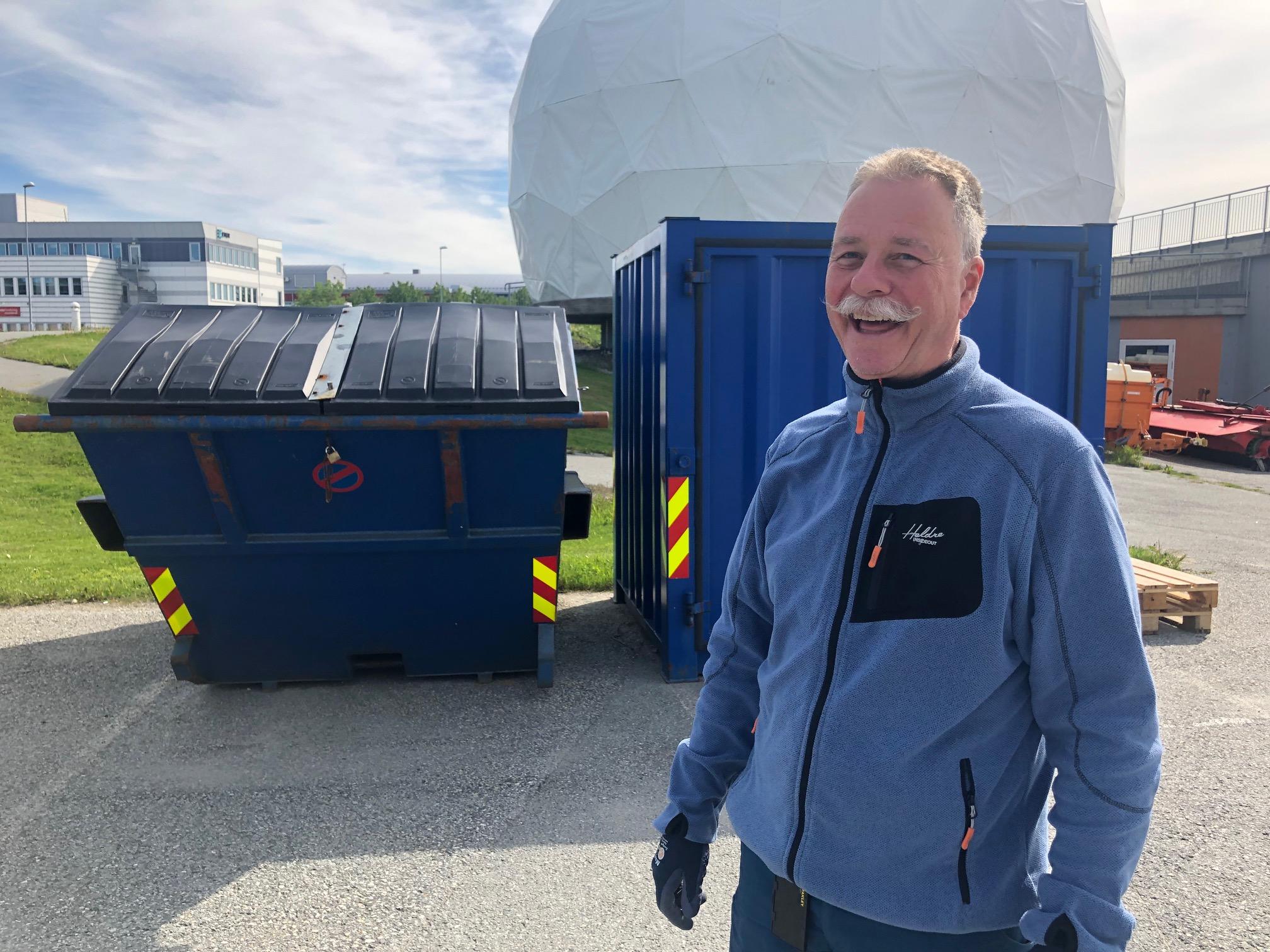 Harald Rubach er en av de ansatte på museet som har fokus på miljø i jobben sin.