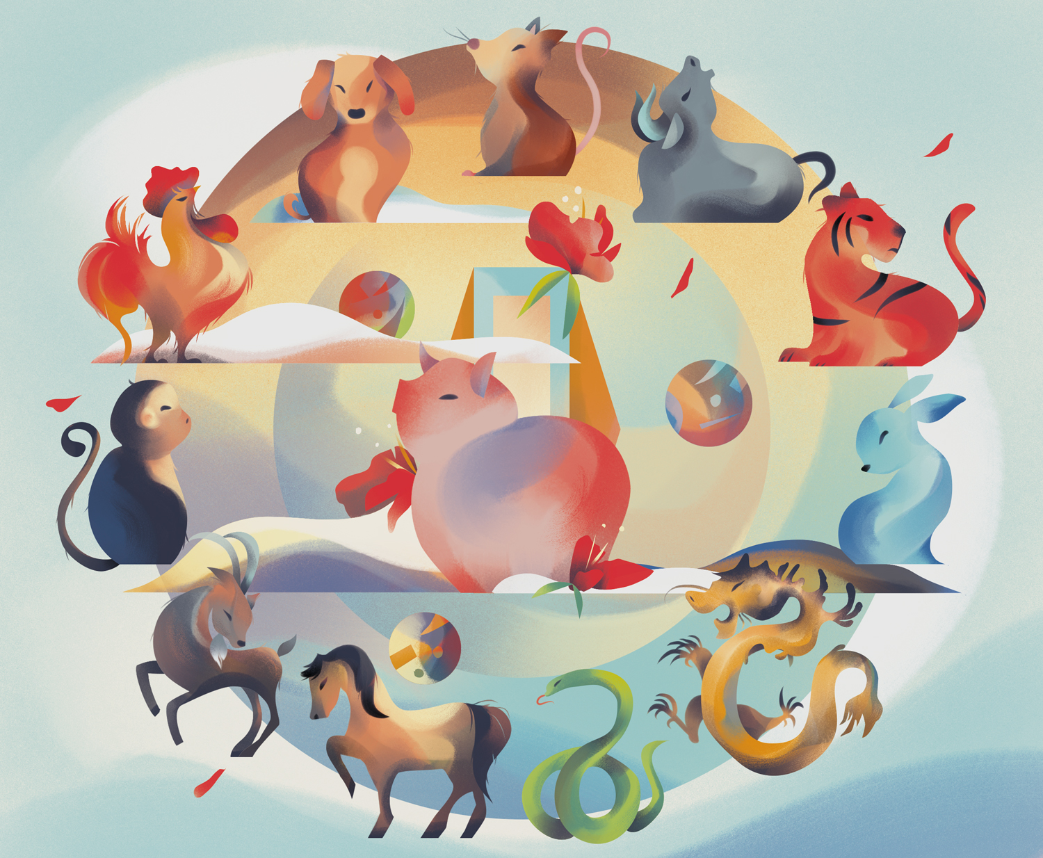 """Chinese Zodiac'"" (Client: Oxford Press)"