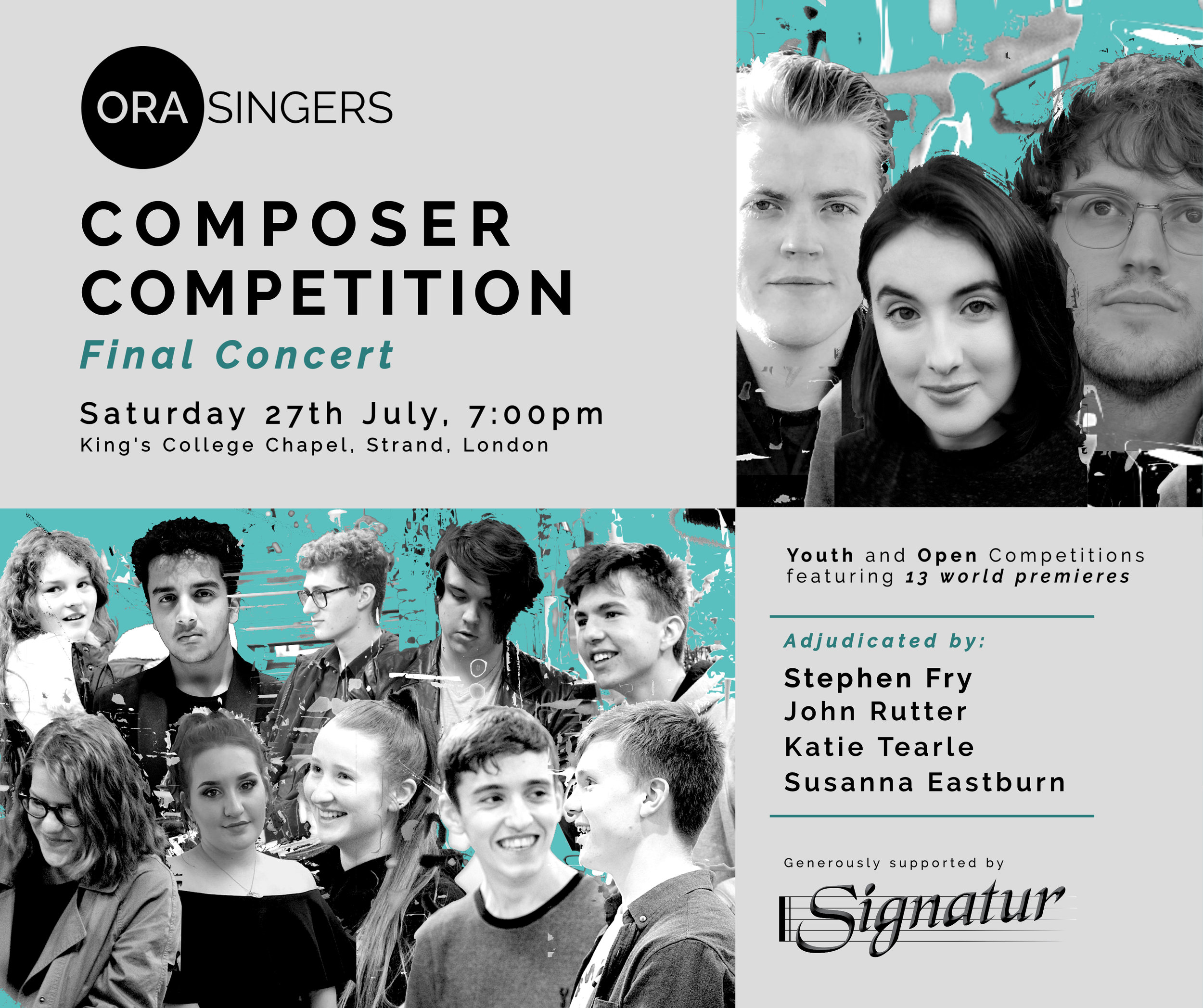 ORA Singers — Stephen Fry Chairs Composer Competition Final Concert