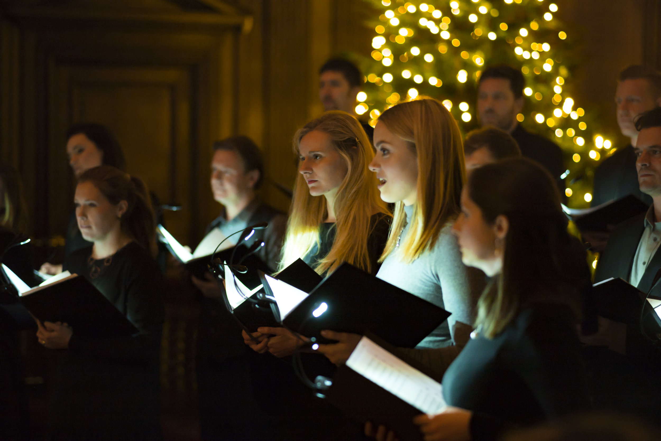 The Christmas Tree - I was thrilled to be asked by ORA to compose a new carol for them. It was especially exciting, knowing the high standard of the group, and imagining their beautifully blended voices performing the piece. The commission was for choir and percussion, and the first task was to find the text. I searched through many different options, and kept coming back to The Christmas Tree, by an anonymous author, as it instantly felt singable and joyful, and I knew that ORA were after something celebratory as their Christmas Eve carol. It also offered light and shade in the text, with a beautifully calm and serene section at the end of the poem which immediately appealed. The addition of the timpani added extra power and energy support the choir. Hearing ORA perform the piece for the first time at rehearsals was a real thrill. I can only hope that the carol adds a little Christmas cheer for many years to come!This commission has been generously supported by Ian Taylor and features on ORA Singers' Christmas disc, Advent Calendar.