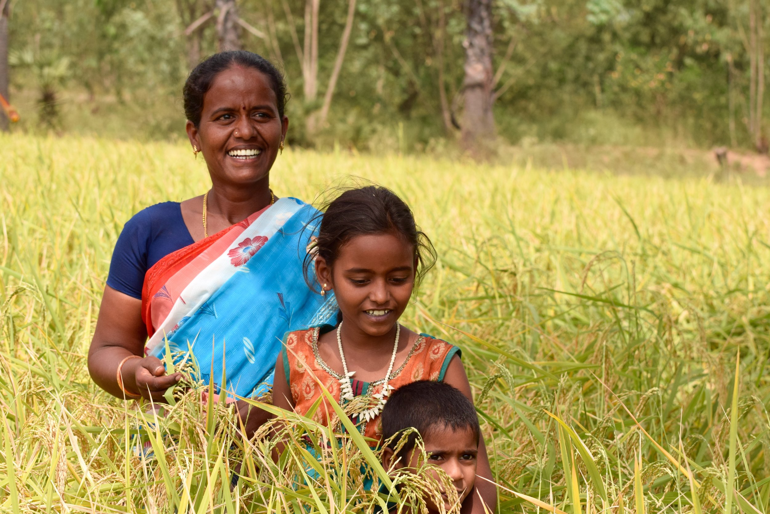 Site Visit 19722 India Dhana Laxmi and her Daughters in field.jpg