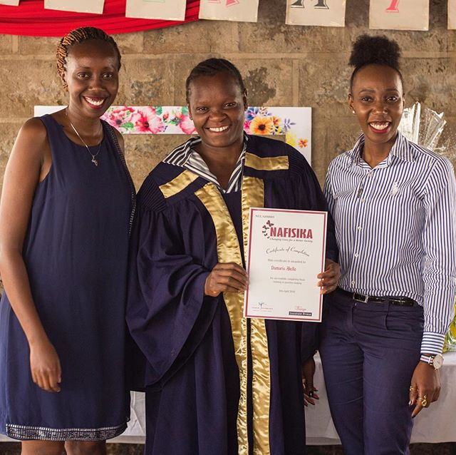 """""""Damaris is a beautiful testimony of the impact VGIF is having in the lives of incarcerated women in Kenya. Because of your support, Damaris can unlock the potential in her that has laid dormant in the past."""" – Nafisika Trust  VGIF grantee partner, Nafisika Trust in Kenya, is supporting young incarcerated women in Thika prison by training them in essential financial management and employability skills. Damaris (center) is an example of the incredible impact this program has.VGIF is proud to be a part of her story. """"After 3 years of incarceration and completing Nafisika Trust's training, today Damaris runs two businesses and can take care of and provide for her three children. More than that, Damaris oozes with exuberant joy at her new life and the possibilities it presents. During the day she runs a little cafe that serves industry workers in the industrial side of town and the evening after the lunch-time meal, she sells clothes in the busy town of Thika before darkness sneaks in and she heads home."""" #womenentrepreneurs#kenya#vgif#proud"""