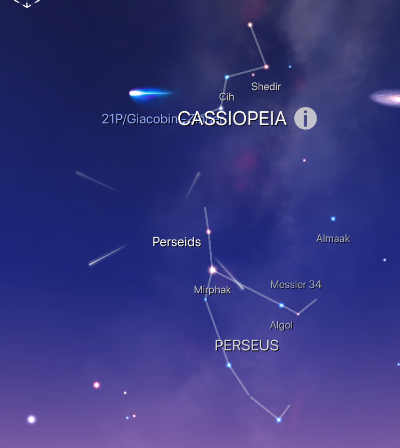 Location of the Perseid meteor shower, named after the constellation of Perseus. The cutoff disk in the top right of the image is the galaxy of Andromeda. If you read my next post (Astronomy & Ecuador), I've explained how to find these in the night sky (Northern Hemisphere only).