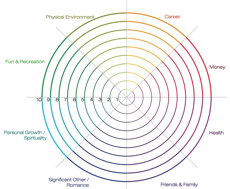 Balance Wheel Wheel of Life template Life Coaching tool