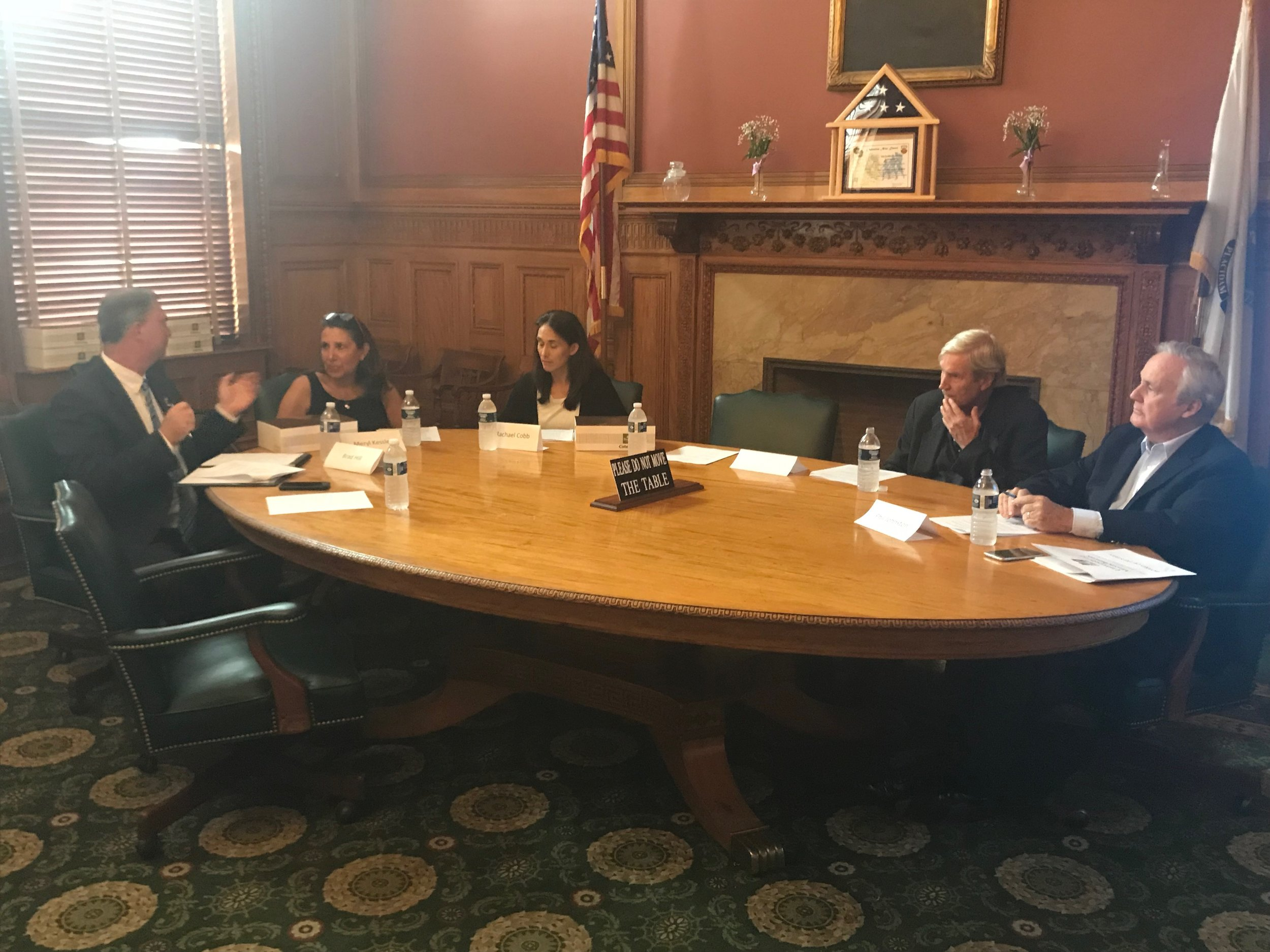 The 2018 CIR Advisory Board members unanimously selected Question 1, An Initiative Petition for a Law Relative to Patient Safety and Hospital Transparency, for citizen review during a meeting at the Massachusetts State House on July 17, 2018.