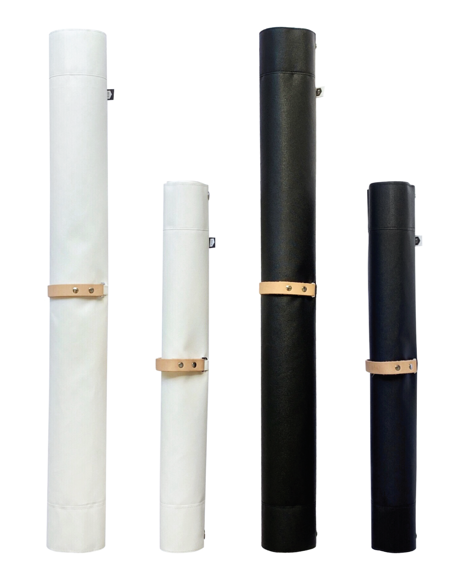 The tarp rolls into a compact tube to store away