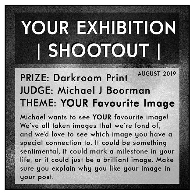 Don't forget to enter this month's SHOOTOUT for your chance to win one of @michaeljboorman's darkroom prints and a YOUR STICKERS pack. To enter simply upload YOUR image shot on film, and explain why its YOUR favourite image. Is it sentimental? Do you love the composition? Does it bring back a fond memory? Or is it just a great image? We'd love to see YOUR favourite images, so make sure you tag us (@your_exhibition) in YOUR upload and use the #YES0819 hashtag! 🔥