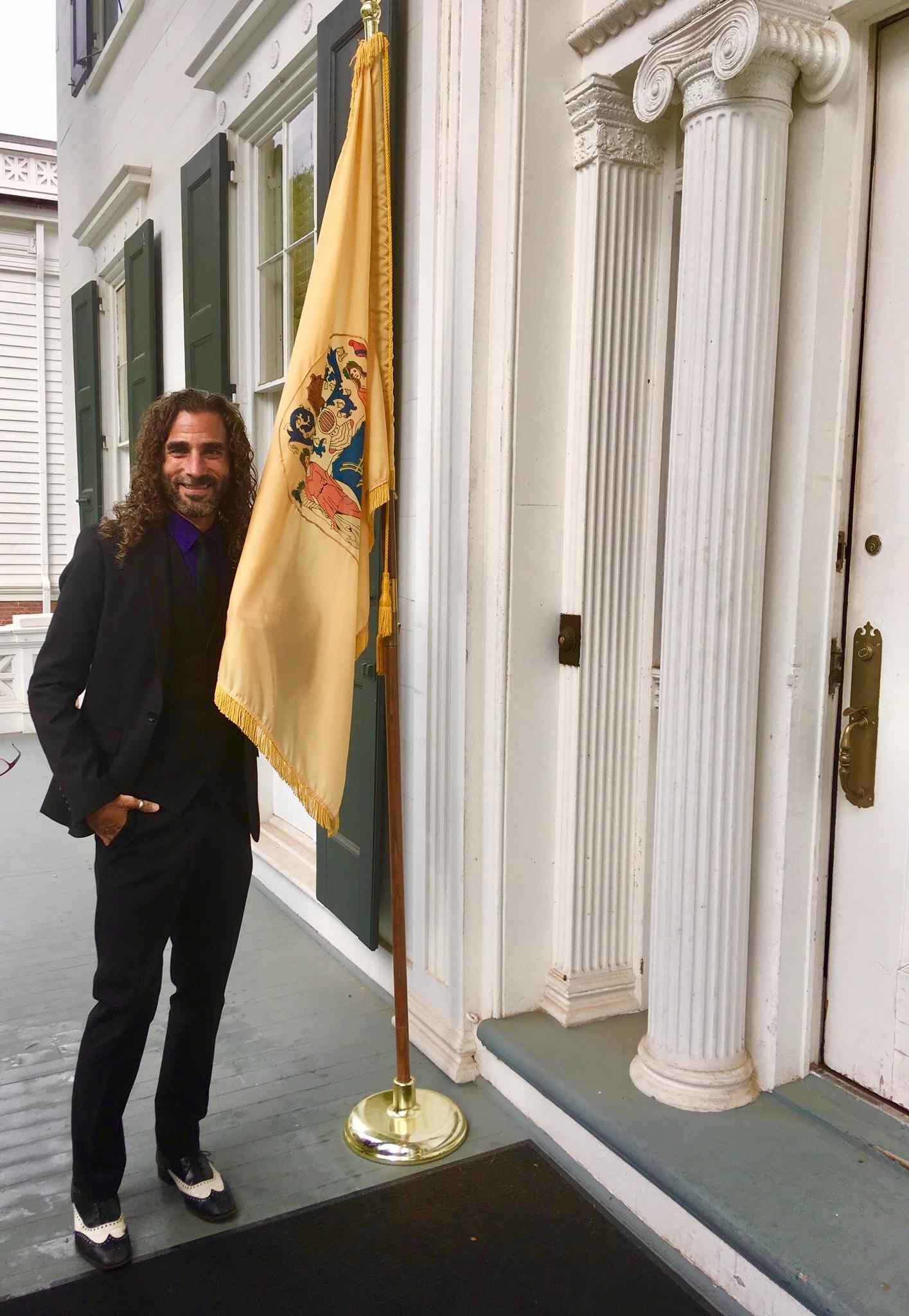 BRCSJ Chief Activist Robt Seda-Schreiber proud @ Pride Reception, Governor's Mansion.jpg