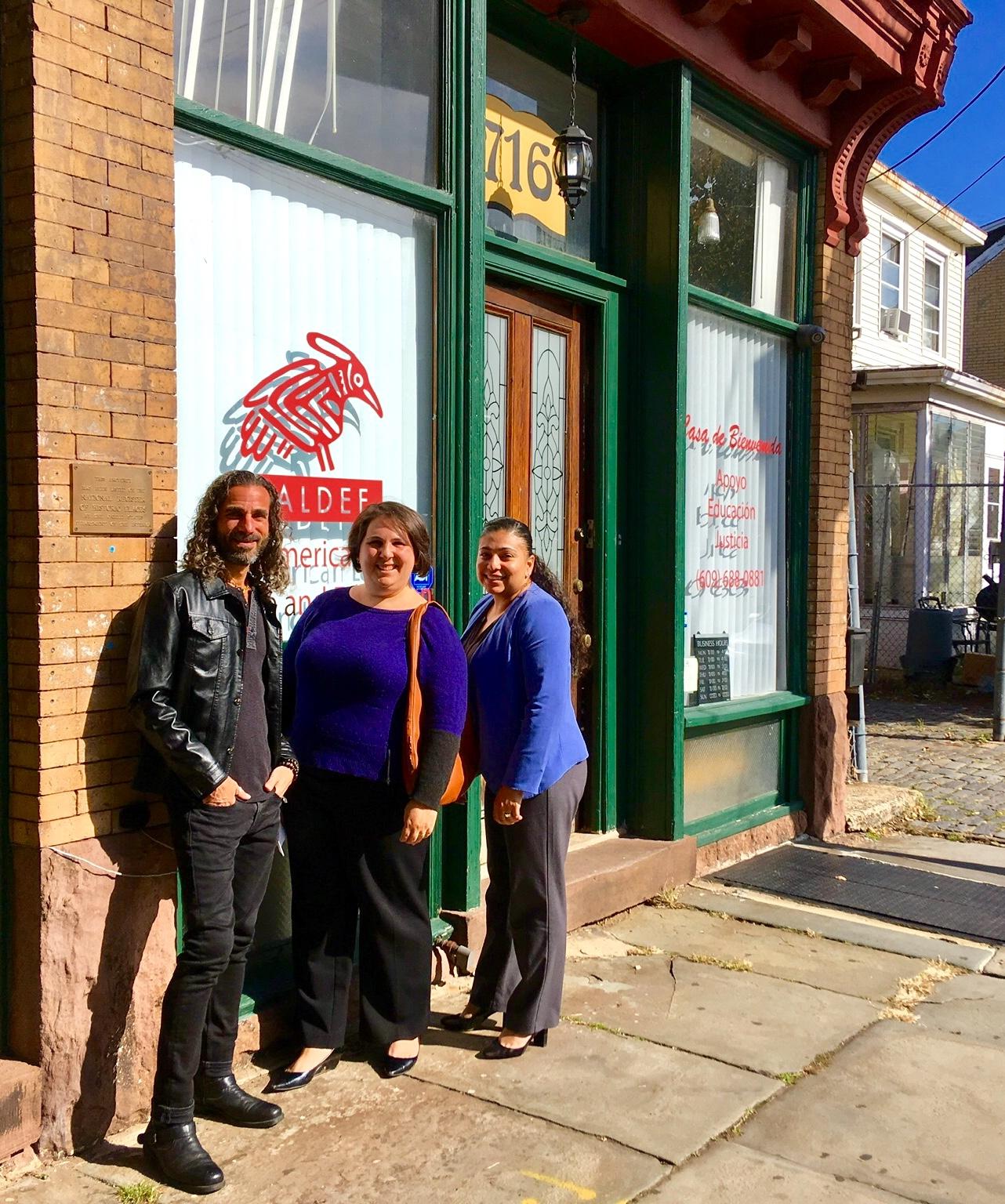 BRCSJ Chief Activist Robt Seda-Schreiber, Paster Alexis & Adriana @ LALDEF.jpg