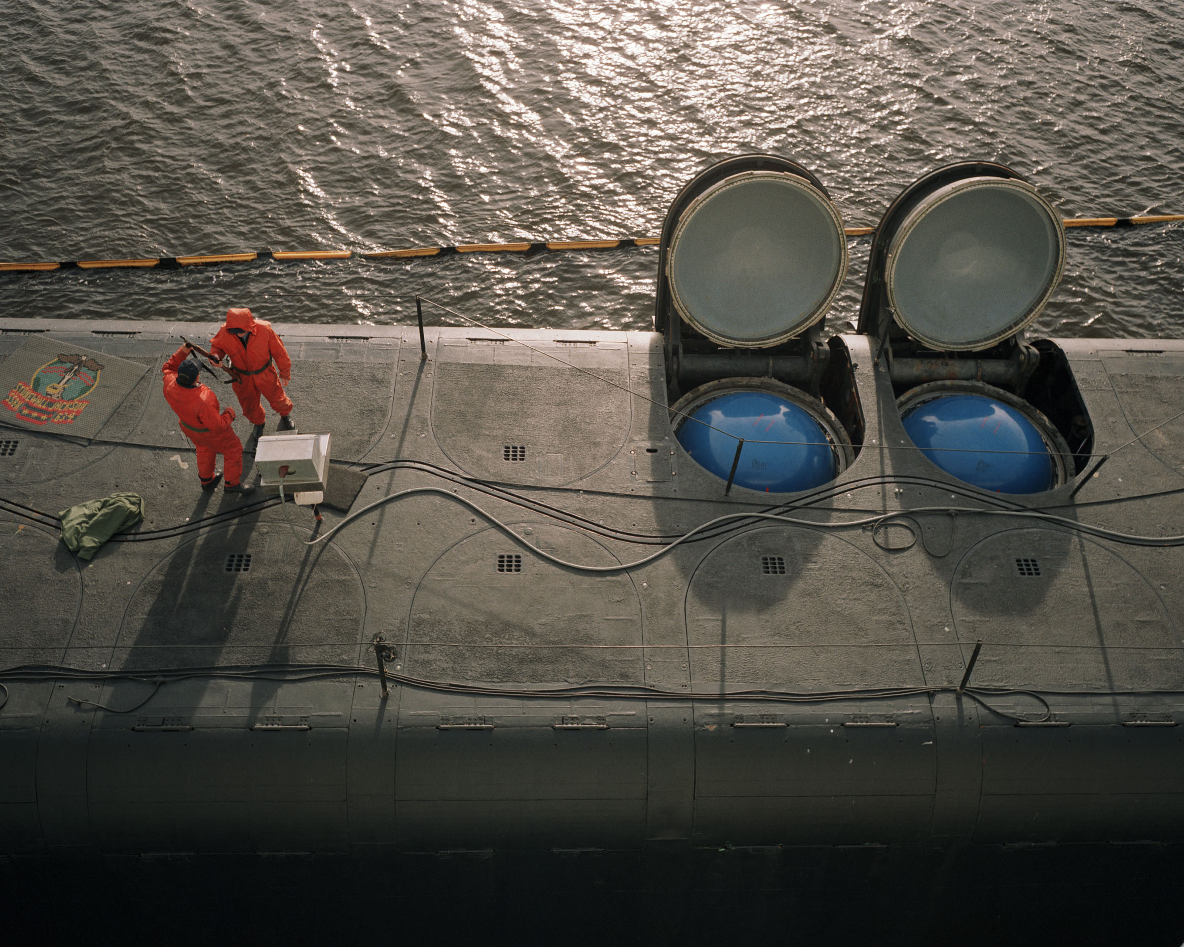 Poseidon missl.tubes, Kings Bay Naval Sub. Base, GA, 1994.