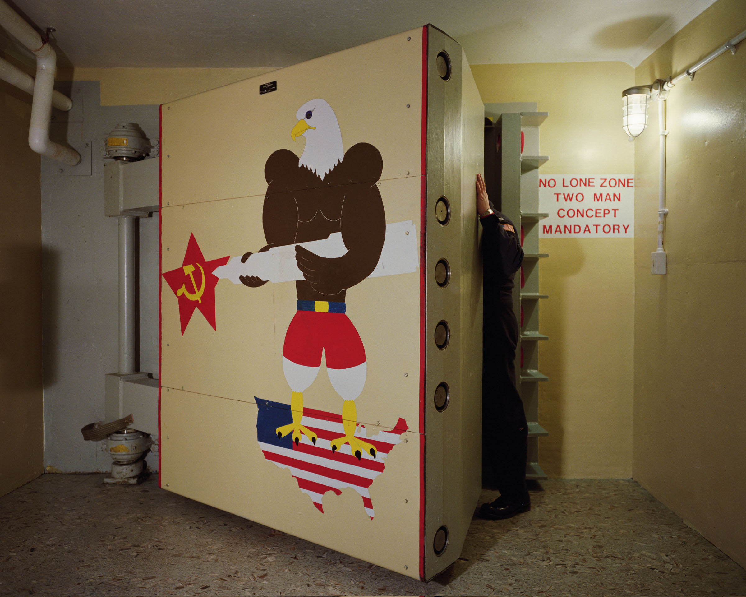 "Blast door, ""November 1"" Minuteman II Launch Control Center, Newell, South Dakota, 1992."
