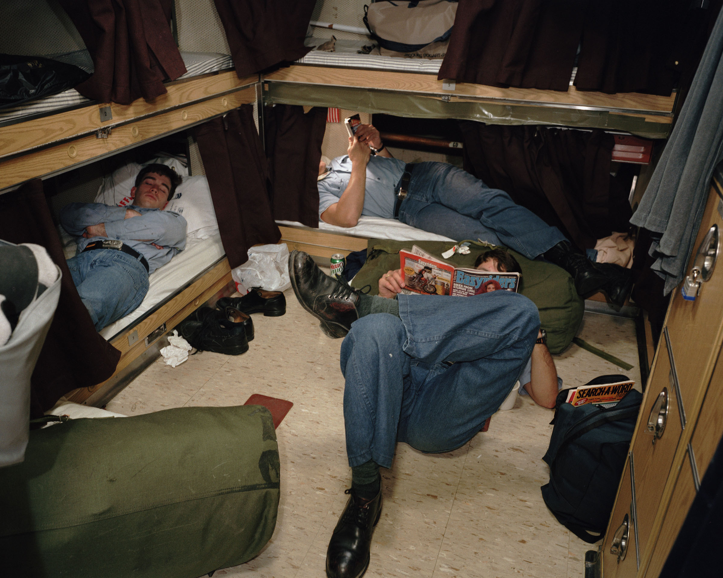 Enlisted crew quarters, USS Alaska, Naval Submarine Base Bangor, Washington, 1992.