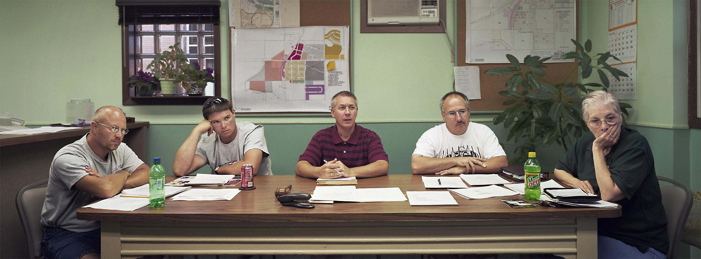 Baltic, South Dakota (population 811) City Council, July 8, 2003 (L to R): Larry Miller, Jason Pittmann, Mike Wendland (Mayor), Doug Burns, Willette Reichert, 2003.