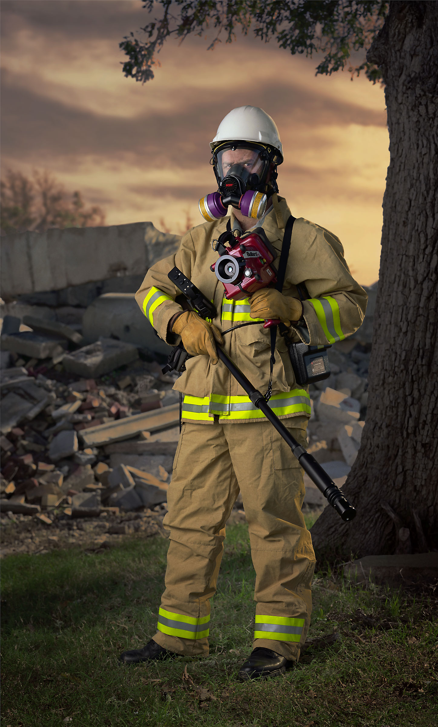 "Urban Search and Rescue.. (""Disaster City"", National Emergency Response and Rescue Training Center, Texas Engineering and Extension Service, College Station, Texas)  2004."