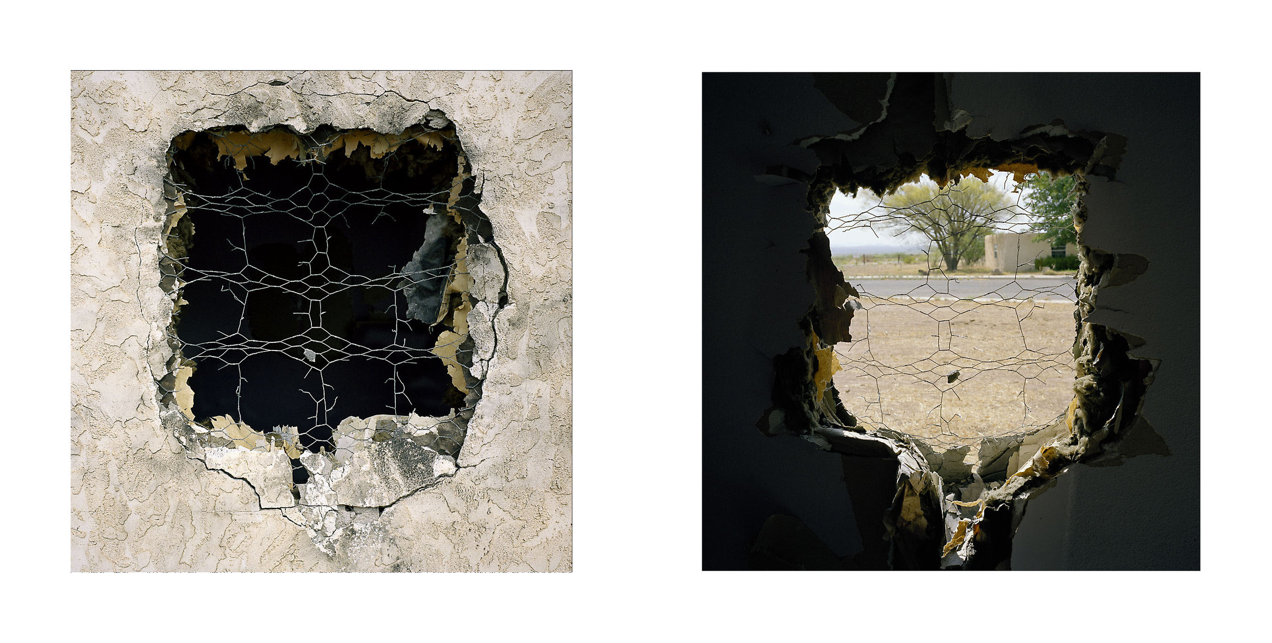 "Breach (Dyptich)  (""Terror Town"", Playas Training Center, New Mexico) 2005."
