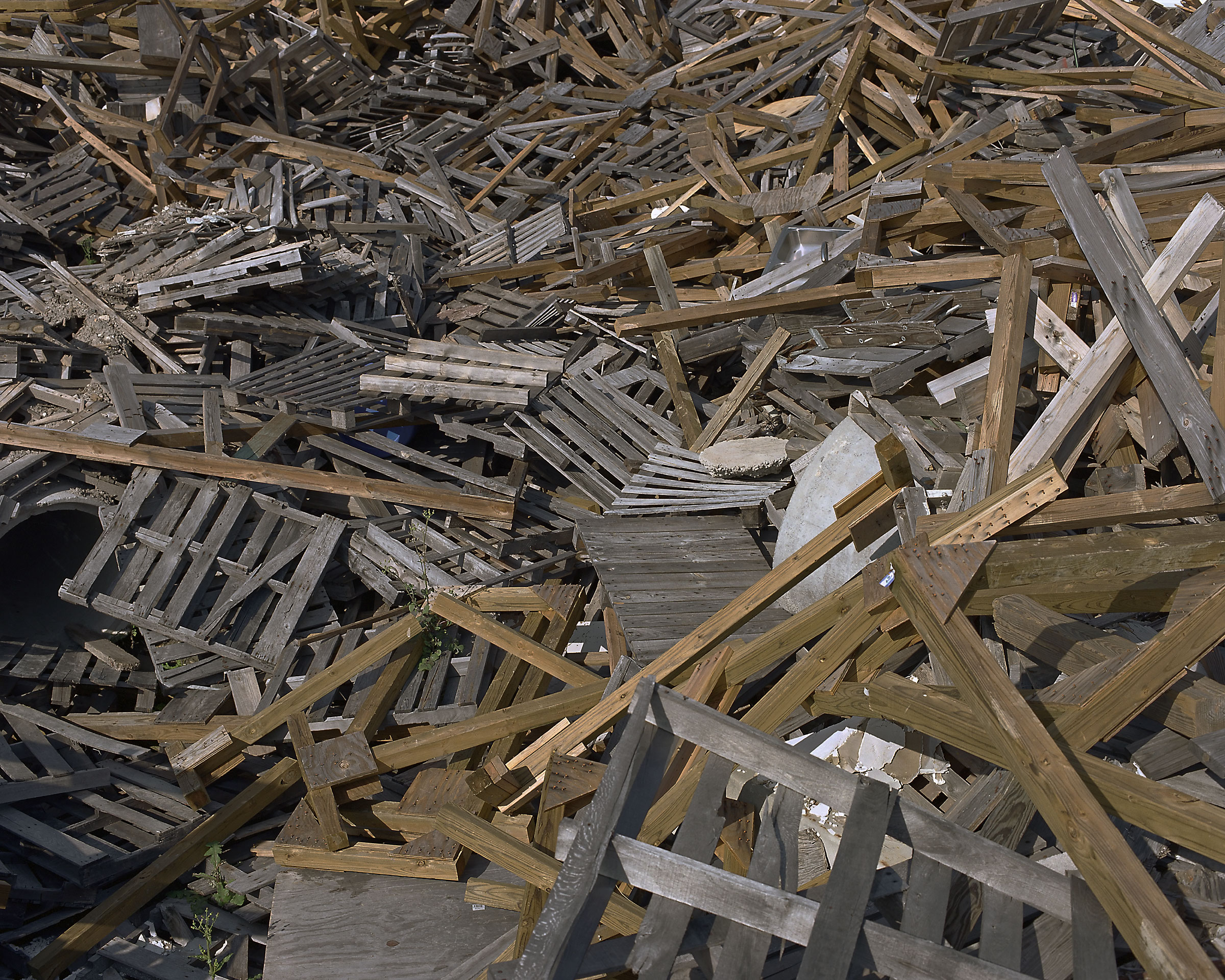 "Wood rubble. (""Disaster City"", National Emergency Response and Rescue Training Center, Texas Engineering and Extension Service, College Station, Texas)  2006."