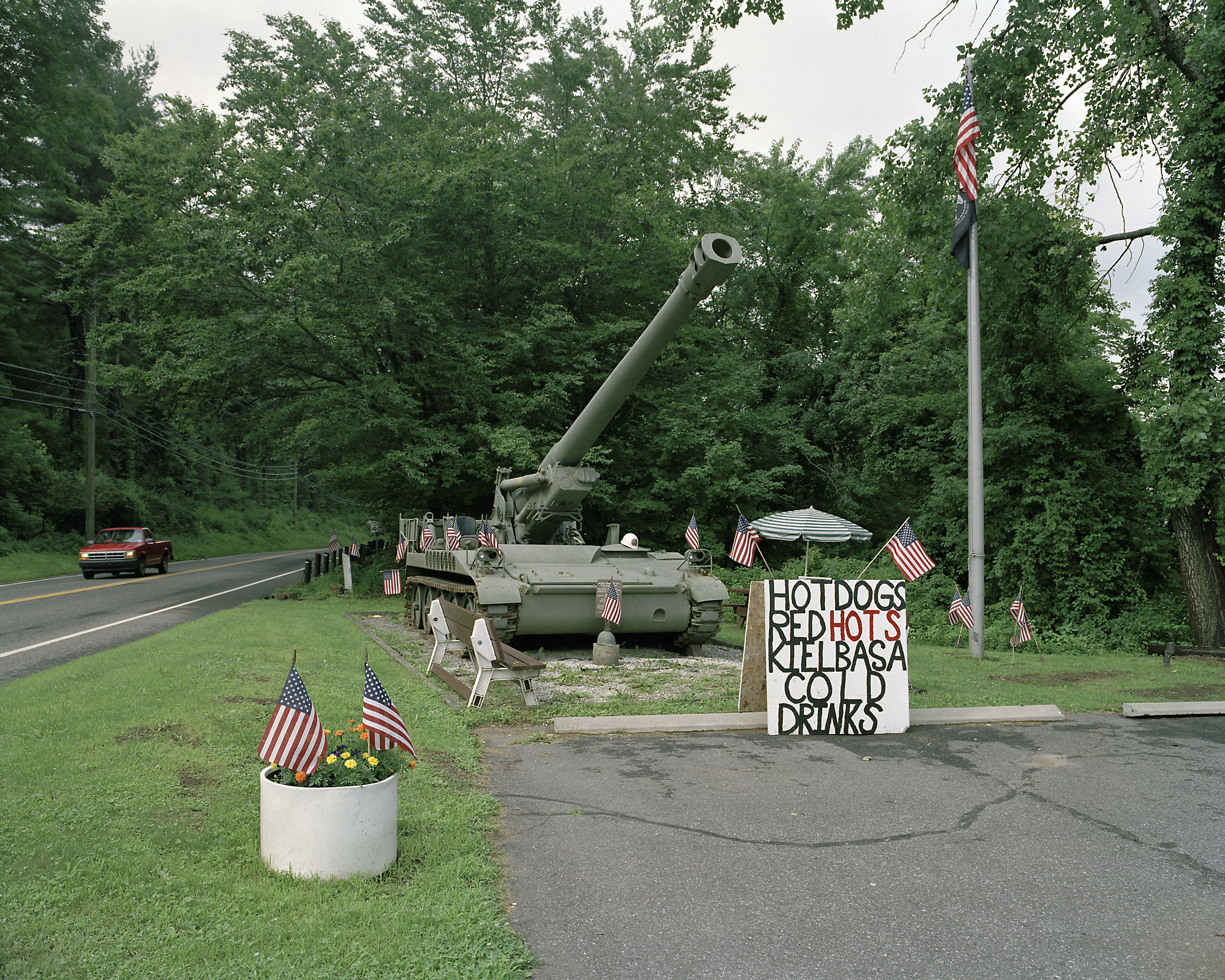 M110A2 self-propelled howitzer, VFW Post 296, Winsted, Connecticut 2008.