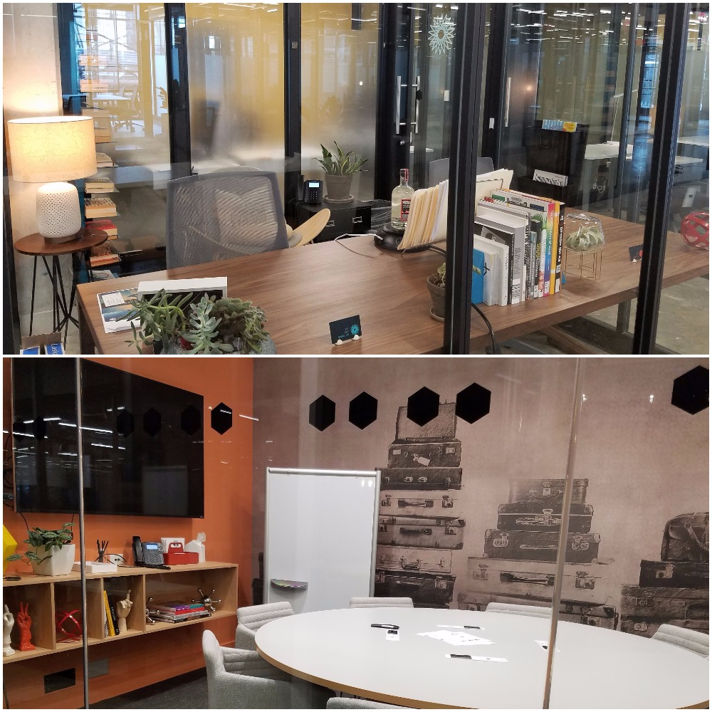 Top: Private Office, Bottom: Conference Room