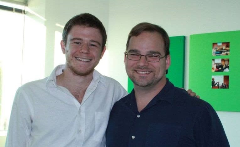 Gabe Bustos (left) and Josh Massey (right) at greeNEWit in 2013