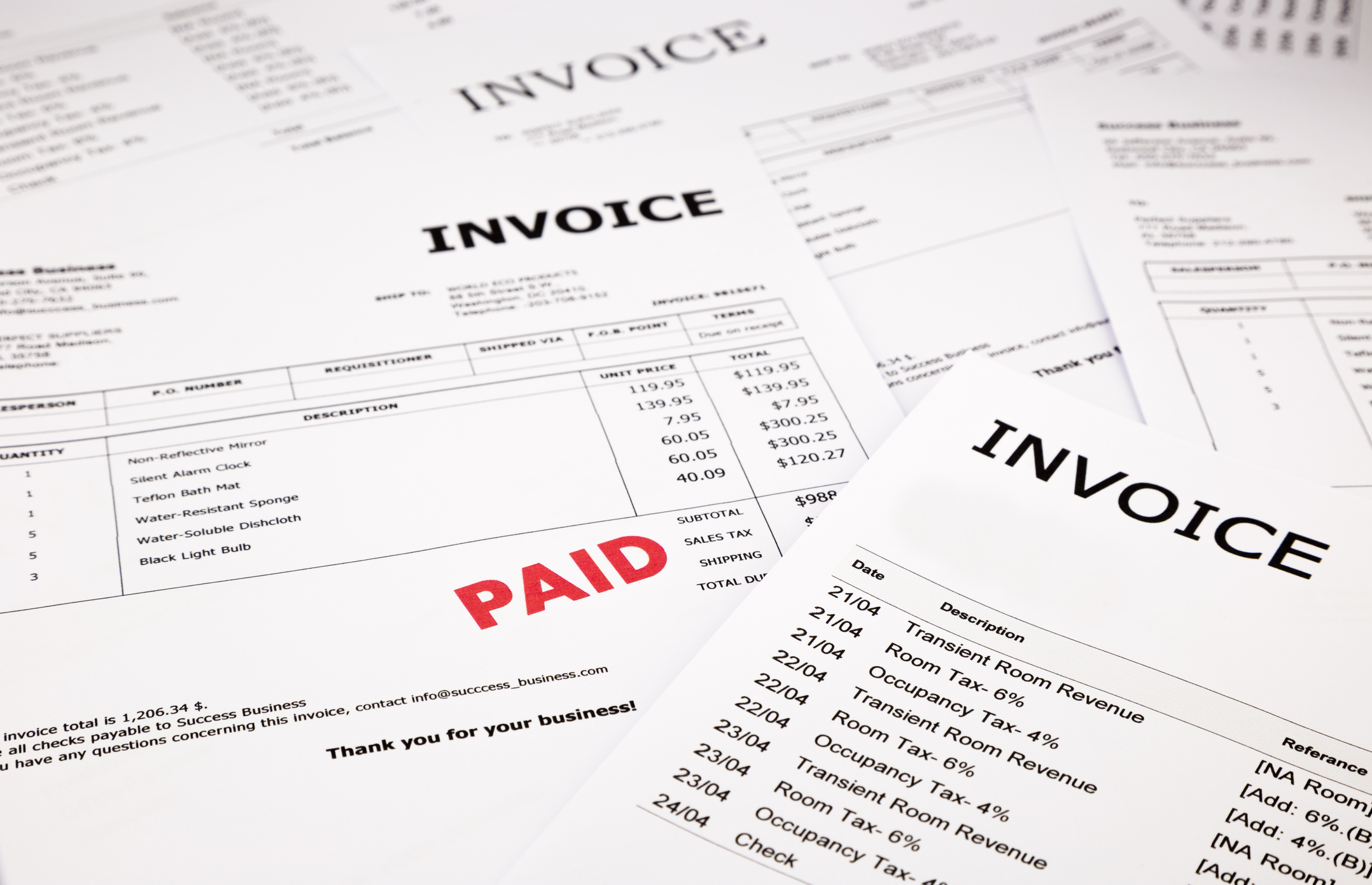 Invoice & Payment Processing  - Eliminate all paper invoices and reduce the amount of payments made each month.