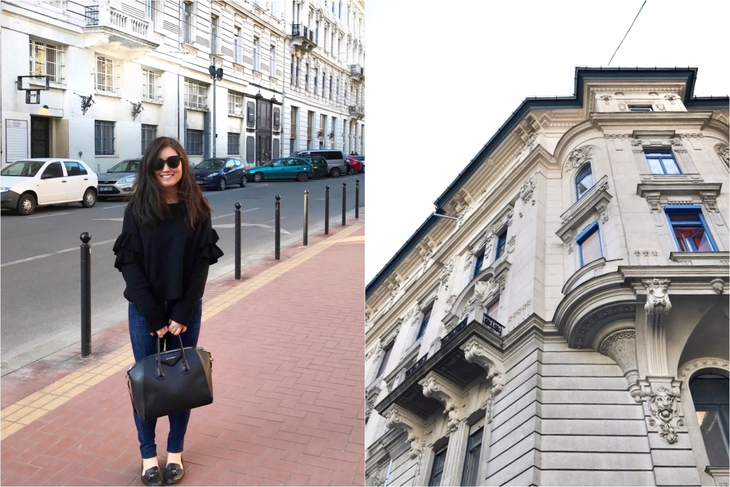 Collage - outfit and architecture