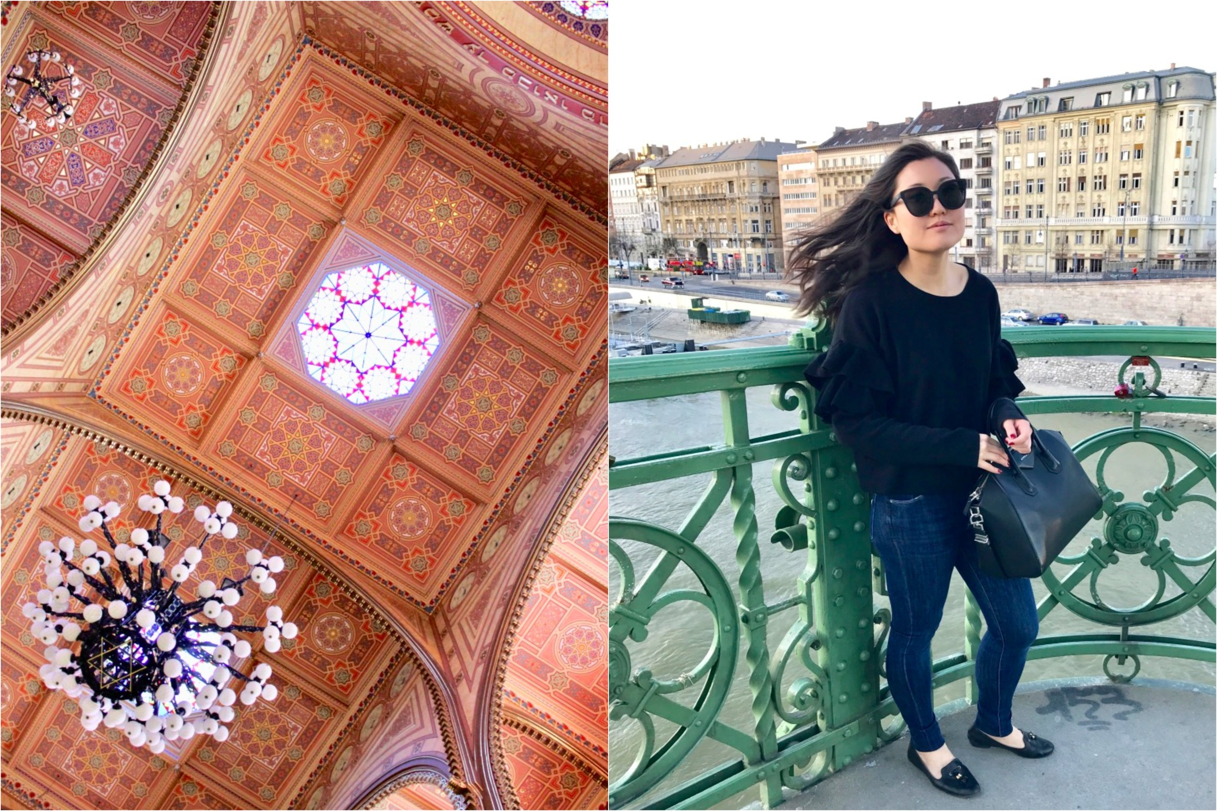 Collage - synagogue ceiling and bridge outfit.jpg