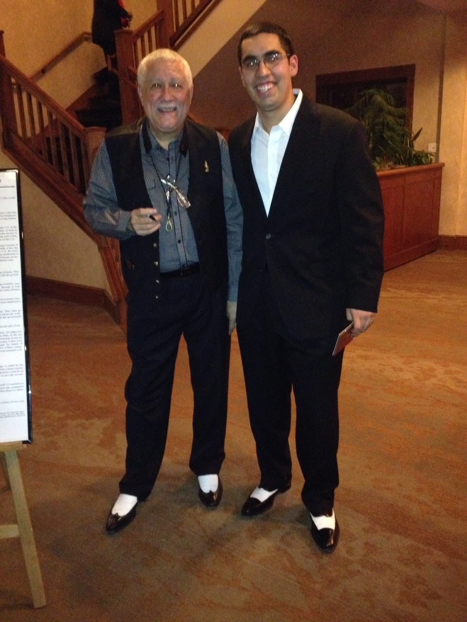 With Paquito D'Rivera after playing the Damas de Blanco Benefit Concert