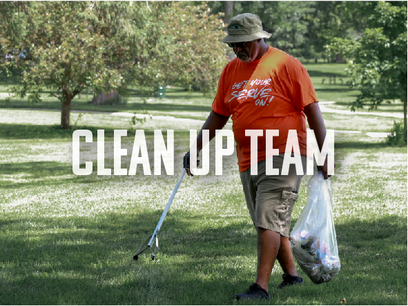 Join the Clean Up Team to help tidy up some of our local neighborhoods. - (19 MORE POSITIONS NEEDED)