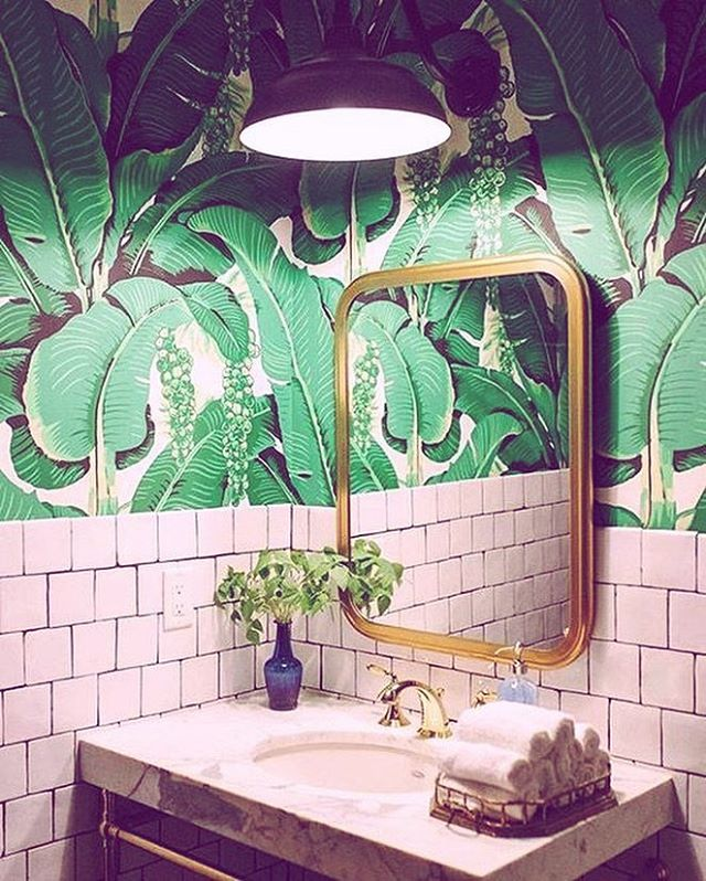Are we over this print 🌴 or should we do something new for our guest restroom?! We would love to have our clients involved in the process! 🌵🌴