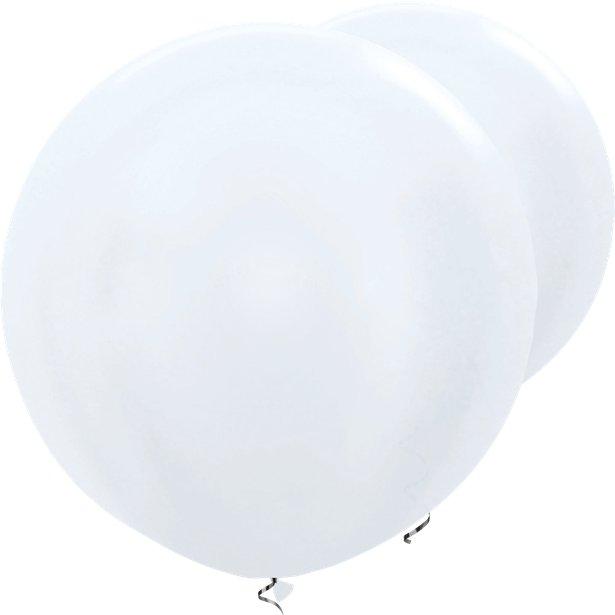 2 XL-Ballons Weiß
