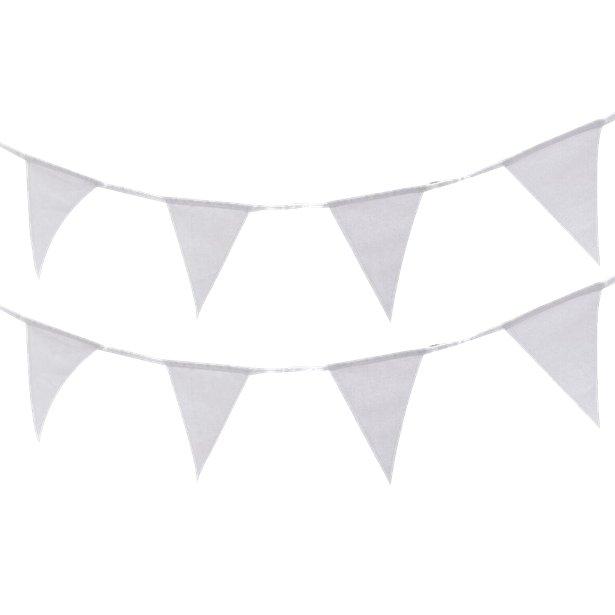 4 Fahnengirlanden Weiß