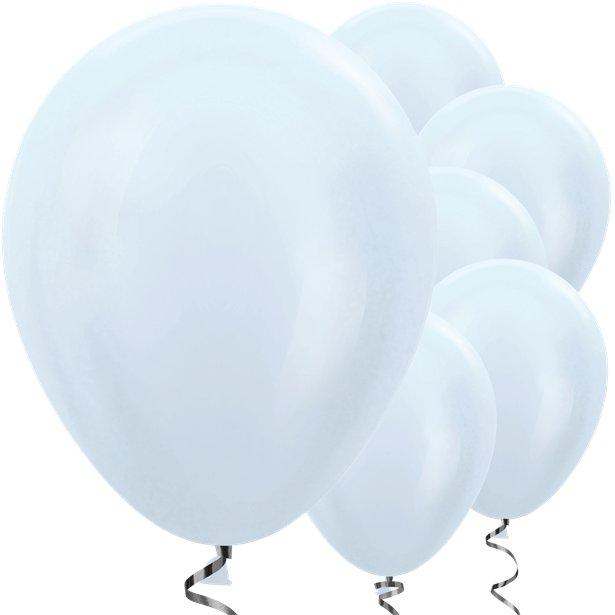50 Satinierte Ballons Weiß