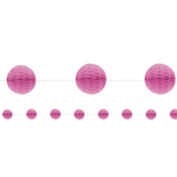 Wabengirlande pink