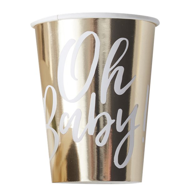 8 Oh Baby Party Cups