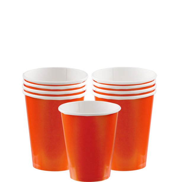 8 Party Cups Orange