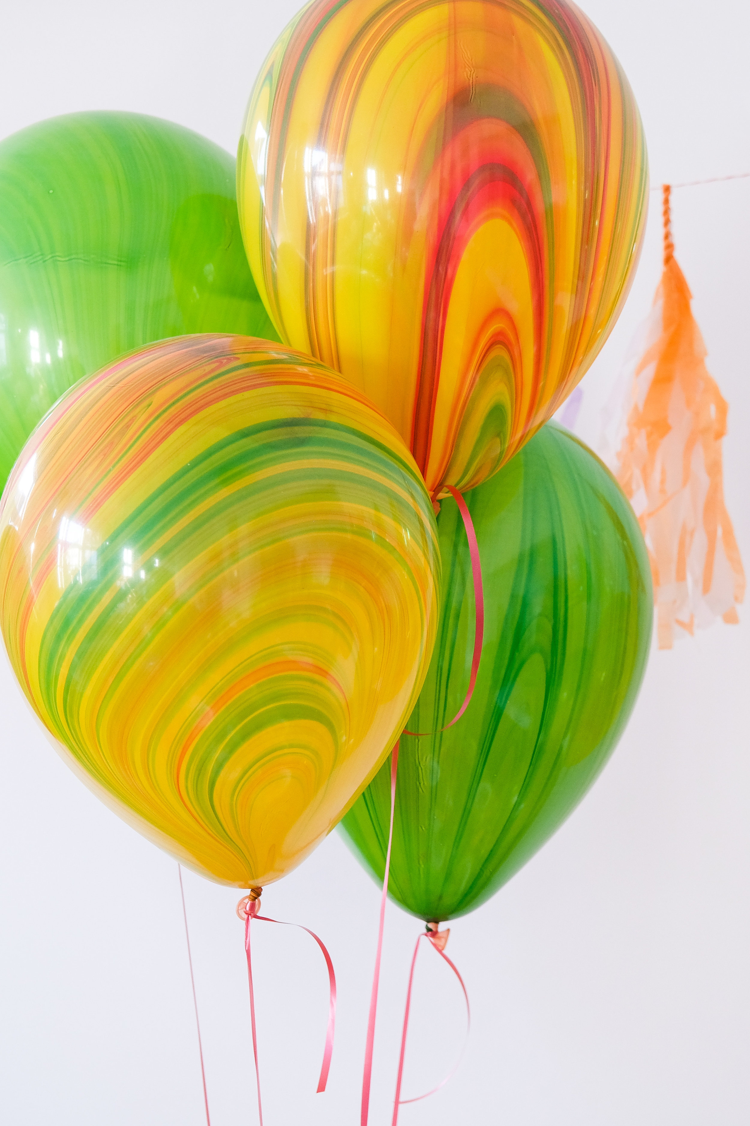 6 Marmor Ballons