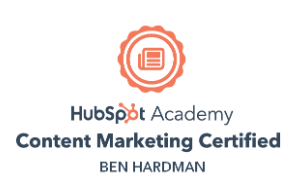 content marketing certificate ben hardman