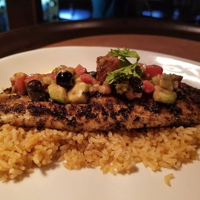 Come try one of our two specials tonight. Our blackened barramundi topped with our honey comb fruit salsa or our smoked special chicken and ribs combo. Hurry while they last.