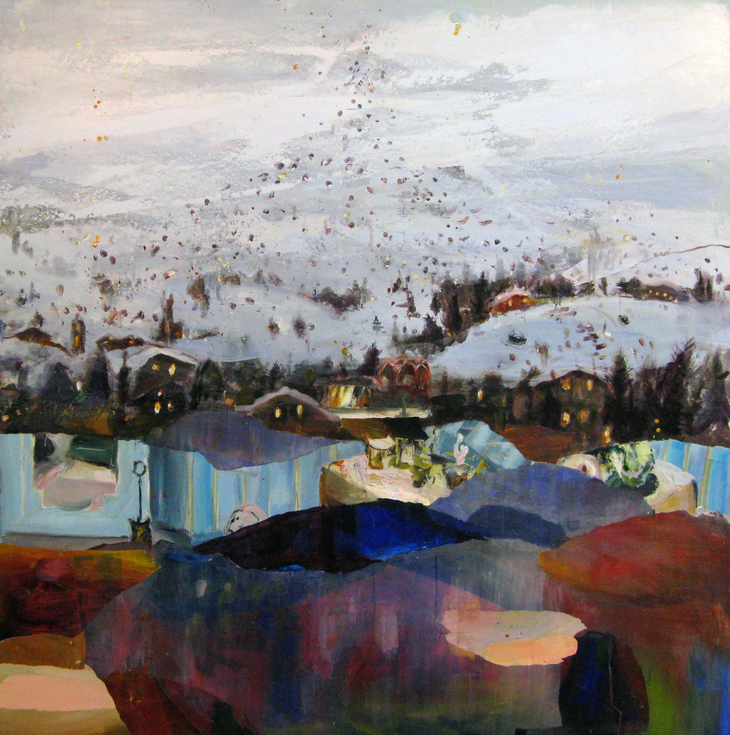 "Winter Resort 58"" x 60"""