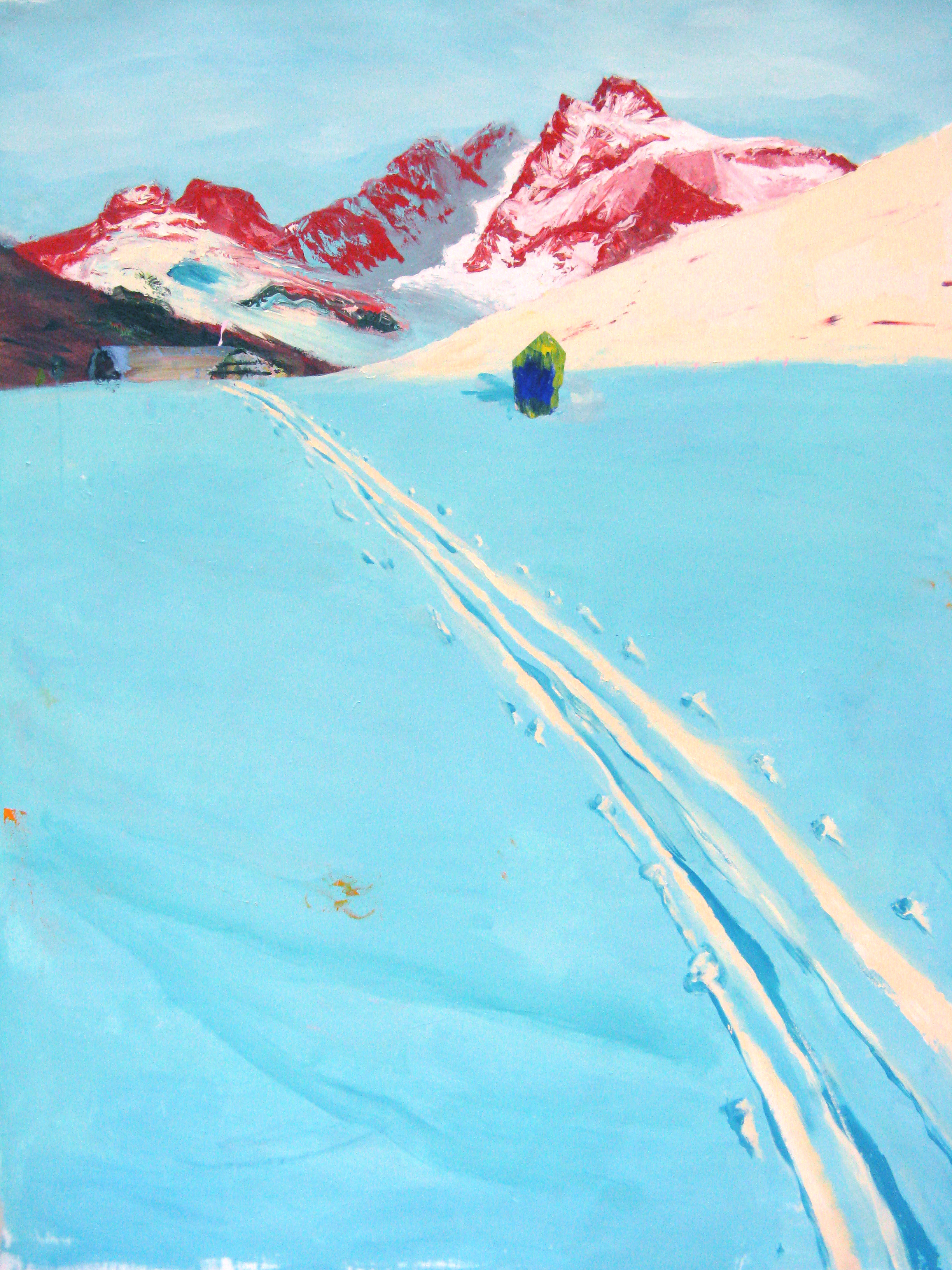 "Icy Blue Trail 64"" x 72"""